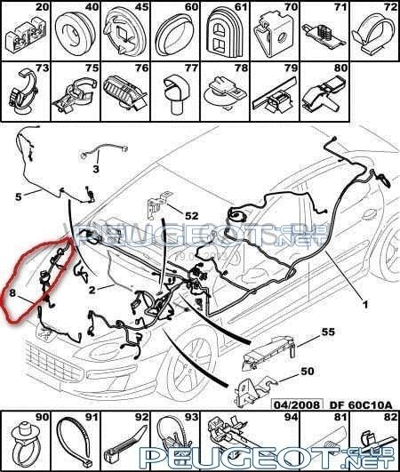 Пежо 407 схема проводки