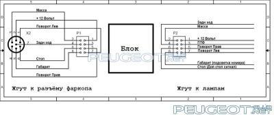 Схема электрическая блока